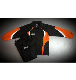 ISAMU 勇 ISAMU TEAM kids tracksuit - Black & orange