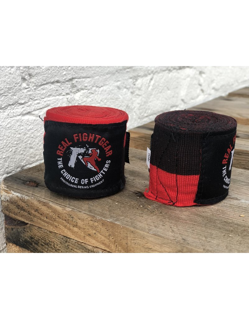 REALFIGHTGEAR RFG Handwraps - Black/Red Striped