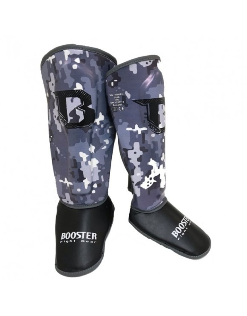 BOOSTER Booster - Shinguards Youth Camo Grey