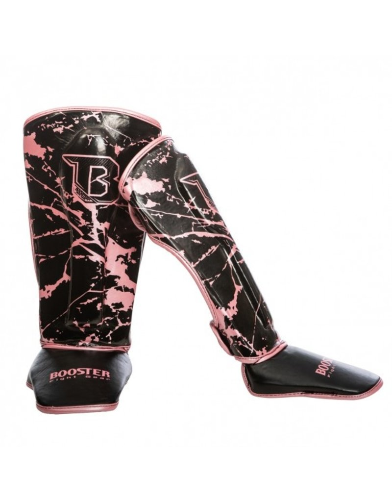 BOOSTER Booster - Youth Pink Marble Shin Guards