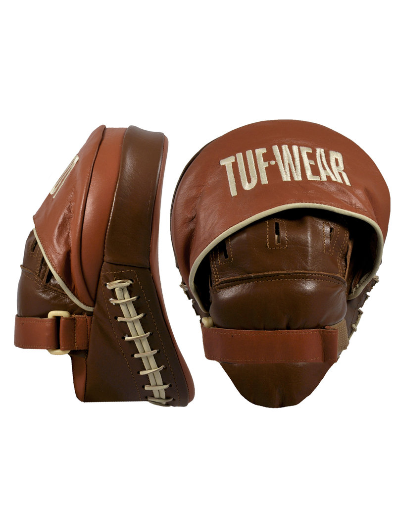 TUF WEAR Tuf Wear Classic Brown Curved Focus Hook en Jab Pad