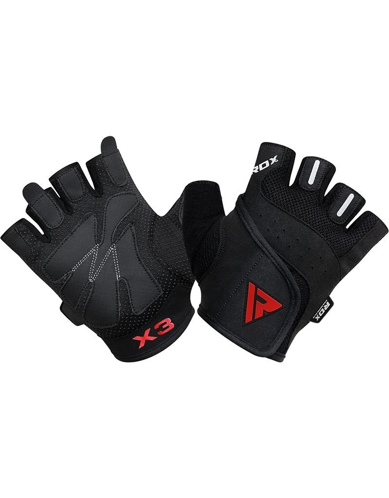 RDX SPORTS RDX S2 Half Finger Padded Bodybuilding Workout Gym Handschoenen