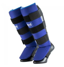 Super Pro Super Pro Combat Gear Shin Guards Savior Blue / White