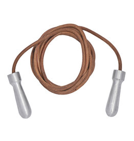 Tuf Wear Tuf-Wear Alloy Handle Leather Skipping Rope - 9ft