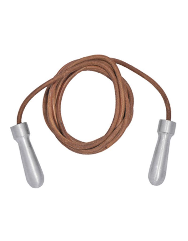 Tuf Wear Tuf-Wear Alloy Handle Leather Skipping Rope - 9ft