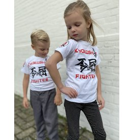 ISAMU Kyokushin Kids  Fighter 'Jakku' T-shirt Wit