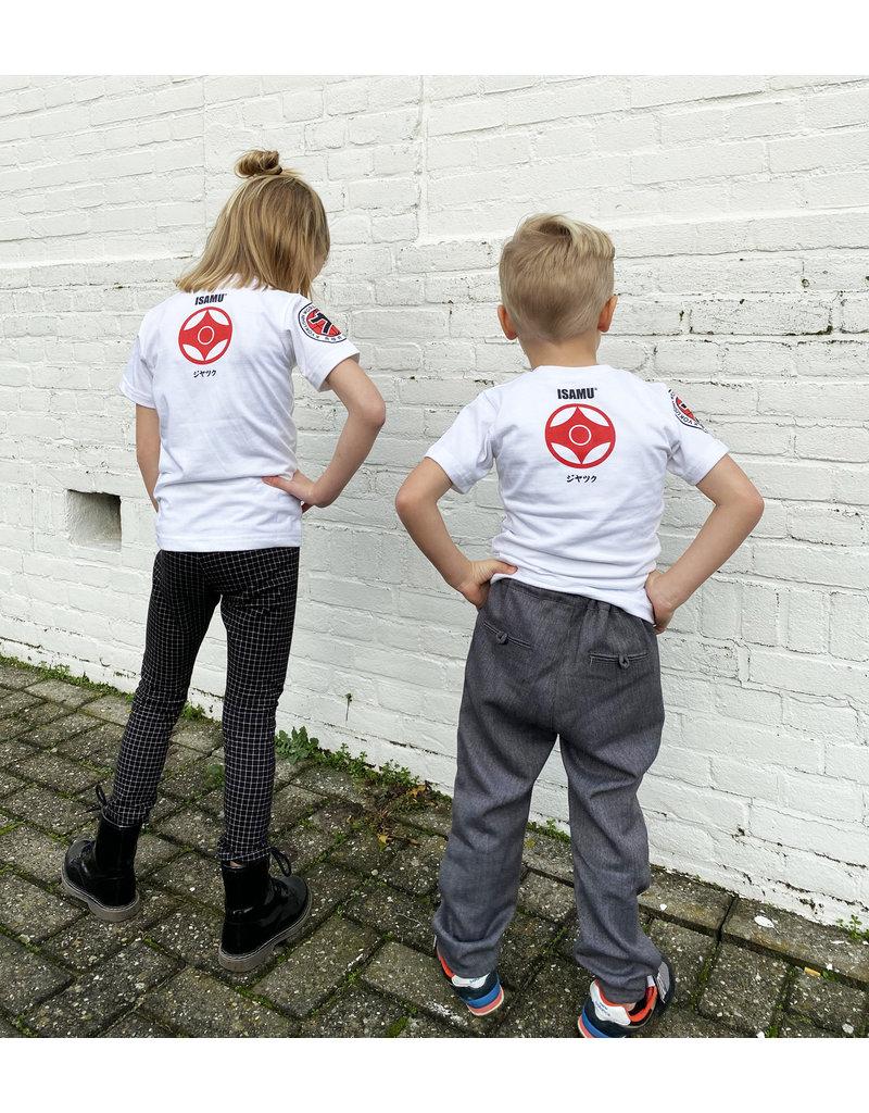 ISAMU Kyokushin Kids  Fighter 'Jakku' T-shirt Wit
