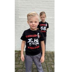 ISAMU Kyokushin Kids  Fighter 'Jakku' T-shirt Zwart