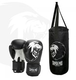 Super Pro Super Pro Combat Gear Punching Bag Set Junior Black / White