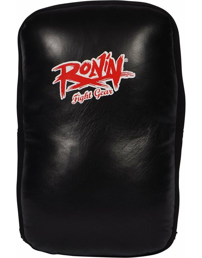 Ronin Heavy Duty Striking Kick-shield Cowhide Leather - BLACK