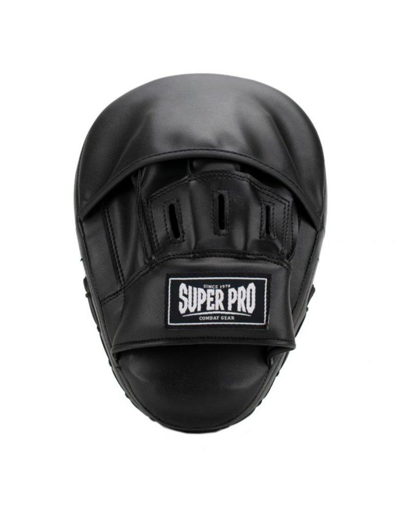 Super Pro Super Pro Combat Gear Handpads Curved PU Zwart/Wit