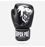 Super Pro Super Pro Combat Gear Warrior Leather (kick)boxing gloves Black/White