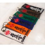 ISAMU Kyokushin Color Kyu Belt Keychain XL