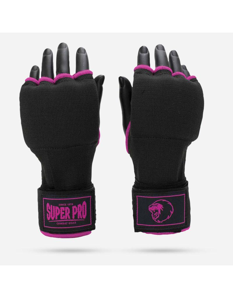 Super Pro Super Pro Binnenhandschoenen Met Bandage Zwart/Roze