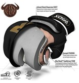 RDX SPORTS RDX Sports T2 Leather MMA Gloves - Gold / Black