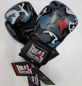 REAL FIGHTGEAR (RFG) Boxing Gloves - Camo Grey/Black