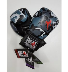 REALFIGHTGEAR Boxing Gloves - Camo Grey/Black