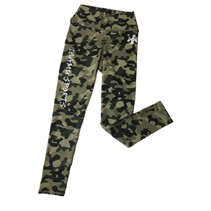 Camo Green Sports Legging
