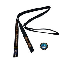IFK KYOKUSHINKAI KARATE BLACK BELT