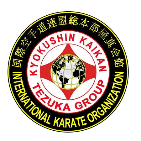 IKO4 TEZUKA GROUP KYOKUSHIN KAIKAN LOGO BORDURING