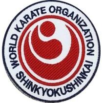 SHINKYOKUSHINKAI WORLD KARATE ORGANIZATION LOGO  BORDURING