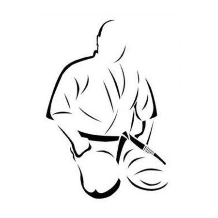 ISAMU Mas.Oyama Embroidery - Seiza Position