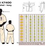 ISAMU ISAMU SHINKYOKUSHINKAI Premium Classic Ivory karatepak K7400