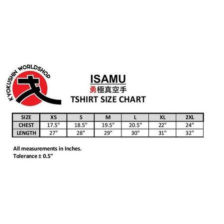 ISAMU ISAMU SUBLIMATED KYOKUSHIN ROOD KANKU VROUWEN T-SHIRT