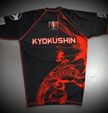 ISAMU  ISAMU KYOKUSHIN KARATE FIGHT RASHGUARD-RYUU BLACK/RED