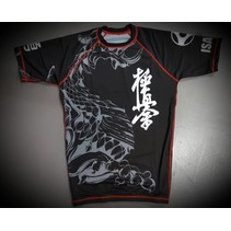 KYOKUSHIN KARATE FIGHT RASHGUARD-RYUU BLACK/GREY