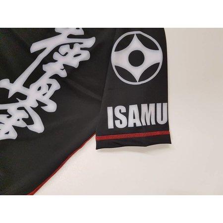 ISAMU ISAMU KYOKUSHIN KARATE FIGHT RASHGUARD-RYUU Zwart/grijs