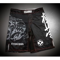 KYOKUSHIN KARATE FIGHT SHORTS-RYUU BLACK/GREY