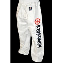 KYOKUSHINKAI POWER KARATE TROUSERS-WHITE
