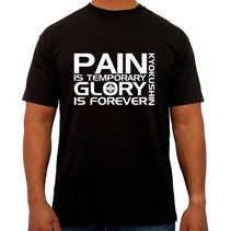 """Pain is Temporary Glory is Forever Kyokushin T-Shirt - Zwart"