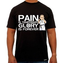 """Pain is Temporary Glory is Forever Kyokushin Vechter T-Shirt - Zwart"