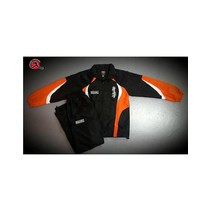 TEAM kids tracksuit - Black & orange