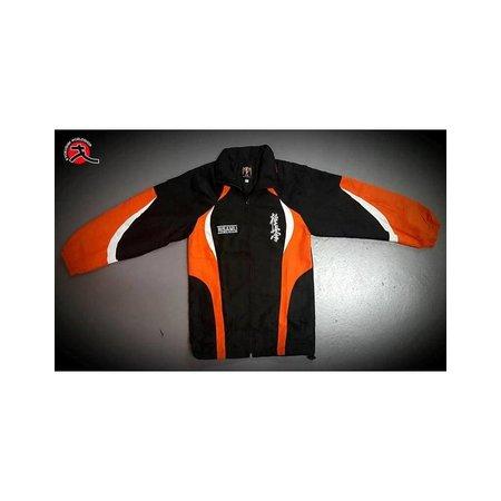ISAMU  ISAMU TEAM kids tracksuit - Black & orange