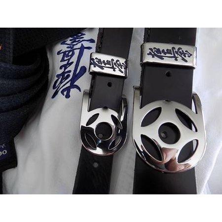 Handgemaakt Buffalo leren riem €œ Kyokushin Kanku