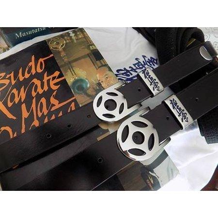 Custom made Buffalo Leather Belt €œ Kyokushin Kanku
