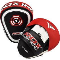 Leather-x hook and jab pad - red/black