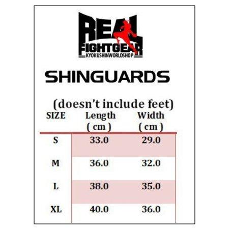 REALFIGHTGEAR REAL FIGHTGEAR SHINGUARD-SGBB1-BLACK