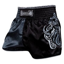 Wisdom Muay Thai (kick)boks broekje - Grijs