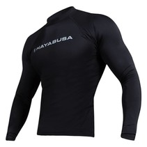 Haburi lange mouwen Rashguard shirt - Black