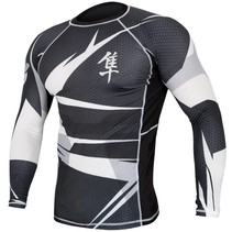 Rashguard Metaru Long sleeve - Black/white