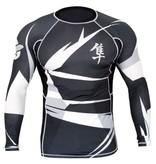 HAYABUSA HAYABUSA Rashguard Metaru Long sleeve - Black/white