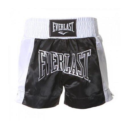 Everlast Thai boks broekje Zwart/ Wit