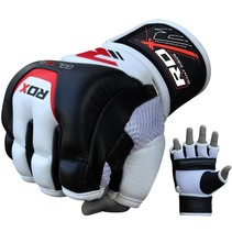MMA Leather gel training grappling gloves