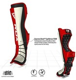 RDX SPORTS RDX Cow Hide Leather Shin Guards - Red