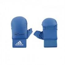 WKF Semi contact Karatehandschoen Met Duim Blauw
