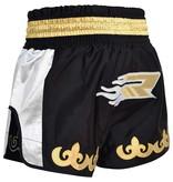 RDX SPORTS (Kick)boks Muay thai broekje zilver/zwart R-7